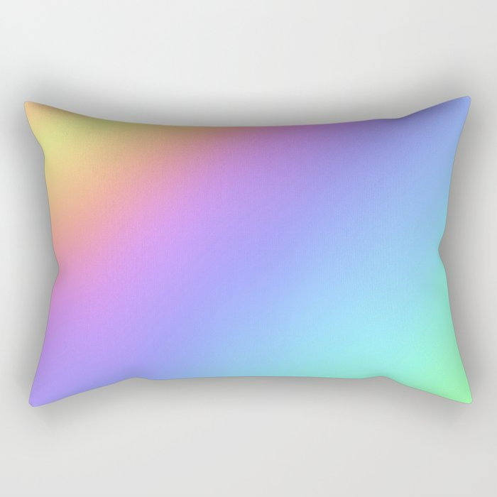 Holographic Foil Multi Colored Pattern Colorful Gradient Abstract Rainbow Rectangular Pillow