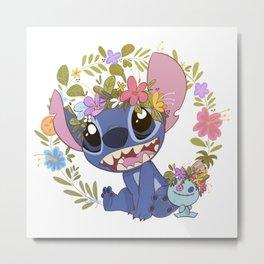 Stitch and Scrump Metal Print