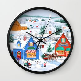 Wintertime in Sugarcreek Wall Clock