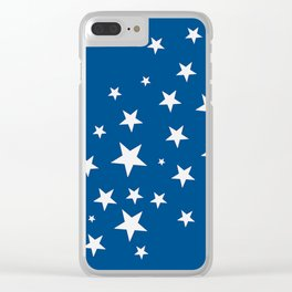 Simple Stars On Blue Art Clear iPhone Case