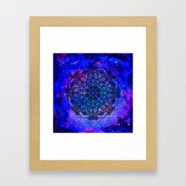 Anatomandala III x Watercolor Nebula Framed Art Print
