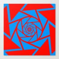 aperture Canvas Prints featuring Aperture Vector by Alli Vanes