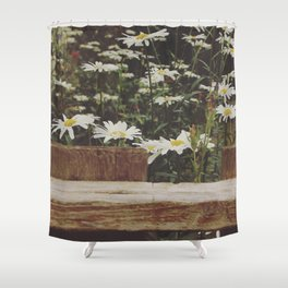 Fenced white Shower Curtain
