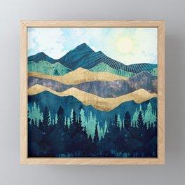 Blue Forest Framed Mini Art Print