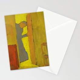 The Artists Mother Opening a Door - Digital Remastered Edition Stationery Cards