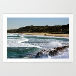 A Day by the Sea Art Print
