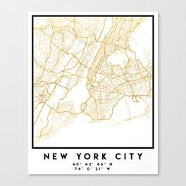 NEW YORK CITY NEW YORK CITY STREET MAP ART Canvas Print