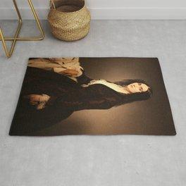 Francesco Hayez - Portrait of Matilde Juva Branca Rug