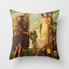 The Gift by Ángel Zárraga Throw Pillow