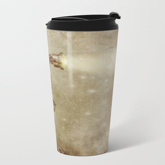 The Projectionist (sepia option) Metal Travel Mug