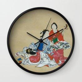 Three Beauties Wall Clock