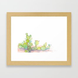 Prickly Pear. Framed Art Print