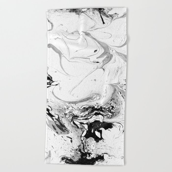 // MARBLED WHITE // Beach Towel