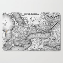 Vintage Map of Ontario (1857) BW Cutting Board