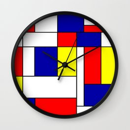 Mondrian #38 Wall Clock