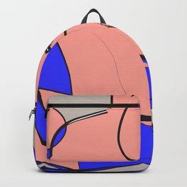 Pink Drawing Sketch Rose Women Digital Art Backpack