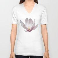 magnolia V-neck T-shirts featuring Magnolia by Guna Andersone & Mario Raats - G&M Studi