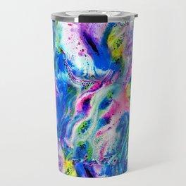 Bathbomb, fluid art, psychedelic art, trippy, psytrance, lsd, acid Travel Mug