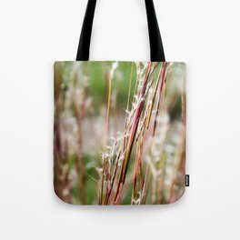 Wild Red Grass Tote Bag