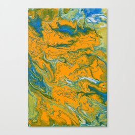 Topographie concepteur 1 portrait version Canvas Print