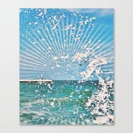 Sea spray - sunset graphic Canvas Print