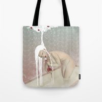 bath Tote Bags featuring Bath by Natalie Lucht