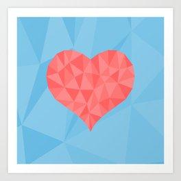 Irreducible Heart Art Print