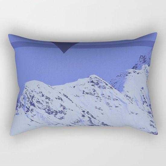 Alaskan Mountains - Periwinkle Rectangular Pillow