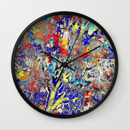 ice and fire friend Wall Clock