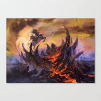 magic the gathering Canvas Prints featuring Lavaclaw Reaches - Magic: The Gathering by vmeignaud