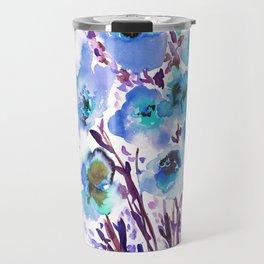 Bouquet Blue Travel Mug