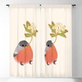 Eurasian bullfinch Blackout Curtain