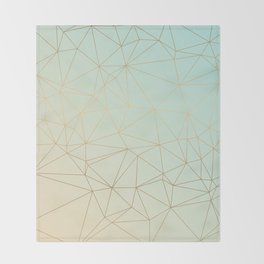 Pastel Geometric Minimalist Pattern Throw Blanket