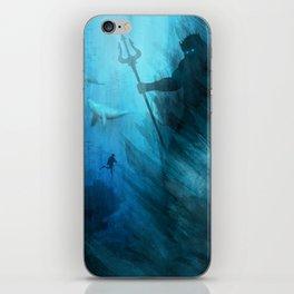 Scuba Diver meets Poseidon  iPhone Skin