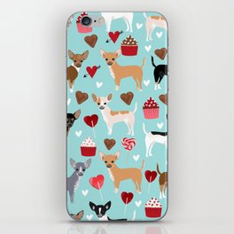 Chihuahua love hearts cupcakes valentines day gift for chiwawa lovers iPhone Skin