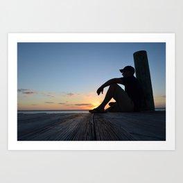 Dock Thinking Art Print