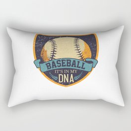 Baseball it's in my DNA Rectangular Pillow