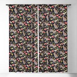 Bunny Meadow Pattern - Dark Blackout Curtain