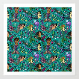 Ethnic Mermaid's Art Print