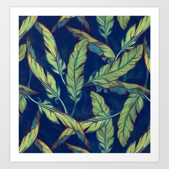 Tropical banana leaves III Art Print