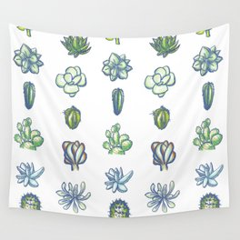 One Dozen Succulents Wall Tapestry