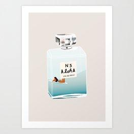 No.5 Aloha, hawaii art, aloha art, summer art, perfume art Art Print