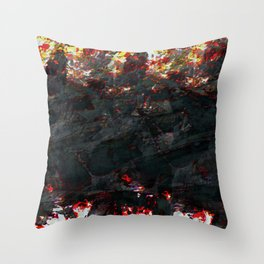 burnt ice Throw Pillow