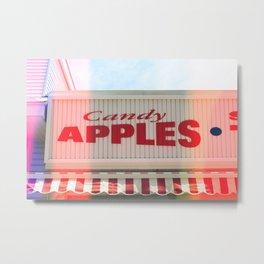 Candy Apples Boardwalk Sign Metal Print