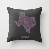 texas Throw Pillows featuring Texas by David Zydd