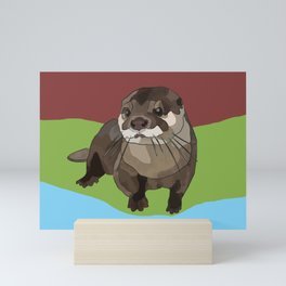Significant Otter by BeeFoxTree Mini Art Print