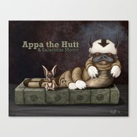 appa Canvas Prints featuring Appa the Hutt and Salacious Momo by Cliff Roth