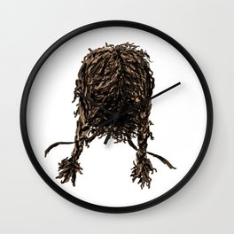 Messy dry curly hair 4 Wall Clock
