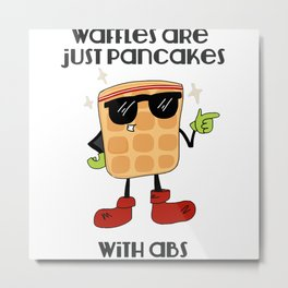 Waffles with abs Metal Print