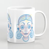 rare Mugs featuring A Rare Girl by Ukko